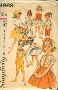 Vintage Sewing Pattern Girls Dress Pants Blouse Top and Scarf Sz 6 in Collectibles, Sewing Patterns, Children