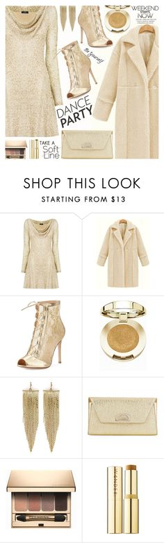 DANCE PARTY by shoaleh-nia on Polyvore featuring Nicole Coste, Gianvito Rossi, Christian Louboutin, Kenneth Jay Lane, Milani, Clarins and Wander Beauty