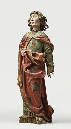 Saint Jean, Sud de la Souabe, vers 1520, Tilleul polychrome, Paris, Musée de Cluny. ©RMN Grand Palais / Michel Urtado