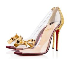 Louboutin Heels  Shoes / colors / sexy / gold / bow / red