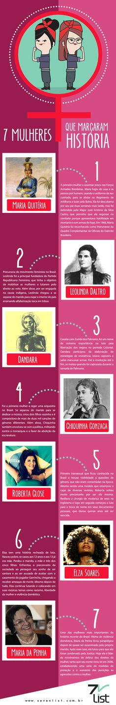 7 mulheres dentre tantas outras que também marcaram história de alguma forma... Just Deal With It, We Can Do It, Intersectional Feminism, Study Hard, Strong Women Quotes, Always Learning, Studyblr, Student Life, Study Tips