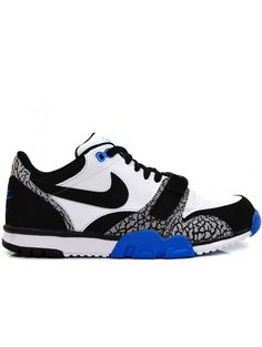 NIKE AIR TRAINER 1 HEREN SNEAKERS - WIT ZWART