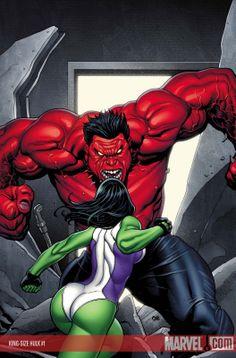 Red hulk & she-hulk (miss hulk)