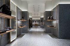 Beautiful terrazzo floors in Valentino's store in Rome