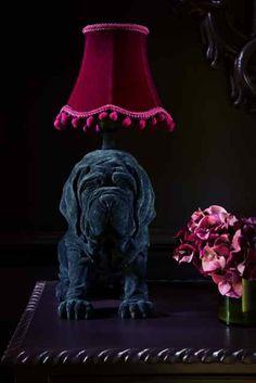 Maurice the mastiff lamp #AbigailAhern #AbigailAhernEDITION #DesignersAtDebenhams Living Room Inspiration, Interior Inspiration, Design Inspiration, Abigail Ahern, I Love Lamp, Interior Decorating, Interior Design, Dark Walls, Dark Interiors