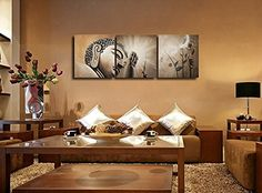 3 Pcs Buddhas Light Shines Decorating Painting Modern Art Gifts for Anyone Canvas Home Decor 60cmx60cmx3pcs >>> Be sure to check out this awesome product.