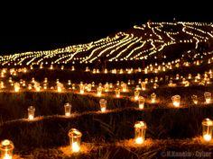 白米千枚田万燈まつり (Candle night at Hakumai Senmaida)