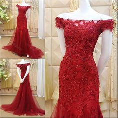 Cheap dress to look thinner, Buy Quality tulle fashion directly from China dress case Suppliers: Formal Evening Gown Long Mermaid Elegant Wine Colored Evening Dress Tulle With Appliques Beaded Abendkleider 2016 Vestido Longo