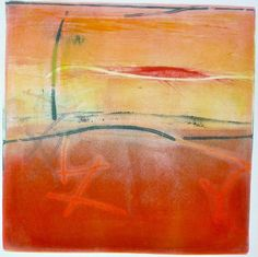 New Gelatin Plate MOnoprints - WetCanvas by Mark Evans
