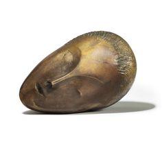 "Constantin Brancusi, ""Muse Endormie,"" 1909-1910. Patinated Bronze with Gold Leaf, , H. 16 cm, L. 25 cm, P. 18 cm. © Christie's Images Limited 2017."
