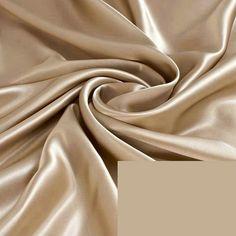 Aliexpress.com: Compre Bege 295 CM de largura escuro 100% Charmeuse De Seda Pura tecido de Cetim de seda da cama de confiança charmeuse satin fabric fornecedores em halosilk Store