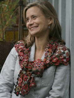 Sophie Digard, My scarf is very similar. It's such beautiful workmanship.