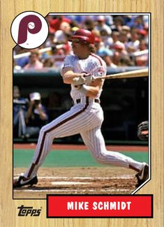 Baseball Photos, Baseball Cards, Led Zeppelin, Schmidt, Growing Up, Legends, Sports, Color, Hs Sports