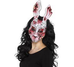 Máscara de Conejo ensangrentado para adultos. Ésta sí es una máscara que da miedo. Deja a todos atónitos y pásalo en grande este Halloween.