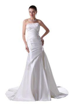 Moderno sirena senza spalline abito da sposa in taffetà (avorio, Personalizzato): DA EURO 160,00