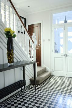 The home of Monique and Trevor - contemporary - entry - london - Holly Marder