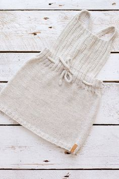 Hand Knitted Baby Toddler Pinafore Dress   GeraBloga on Etsy