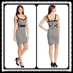"""JACK NEW B/W Ponte Striped Dress ~ NWT WOW!! JACK B/W Ponte Striped Party Dress ~ Date Night ~ Girls Night Out ~ Vacation/Cruise Worthy ~ 35 1/2"""" Long ~ 75% Polyester/20% Rayon/5%Spandex ~ #1749  Trades or Holds ✅ Use offer option ❤️ Bundles Jack Dresses"""