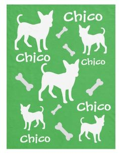 Personalized Chihuahua Dog Blanket - get it in lots of colors at TheSmootheStore.com