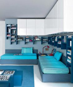 Children's Bedroom Idea, interesting idea for shelving