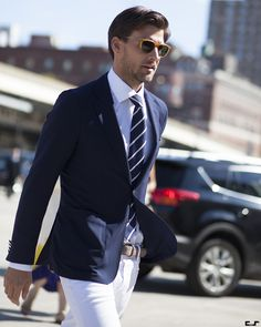 preppyornotpreppy: csmartfx: Johannes Huebl. New York Fashion Week Perfect