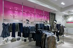 Oasis flagship store by Dalziel and Pow, London store design