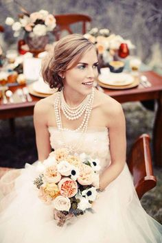 Top 10 Layered Pearl Necklaces + Win One! | photo: Gideon Photography | http://emmalinebride.com/bride/layered-pearl-necklace-etsy-finds/