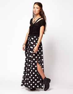 THESE ARE PANTS    Enlarge One Teaspoon Control Yourself Wide Leg Palazzo Pants in Polka Dot
