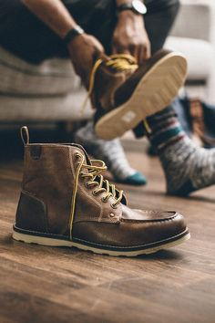 Comfort is key in a good pair of boots... Crevo's Buck Boots, feature memory foam insoles. Women, Men and Kids Outfit Ideas on our website at 7ootd.com #ootd #7ootd