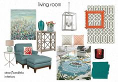 Seabreeze Living Room by renate8 features CR Laine's Camden Chair & Ottoman