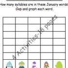 This set has 4 different Math and Literacy Activities.Write the Room-There are 12 different colored cards to be placed throughout your classroom....