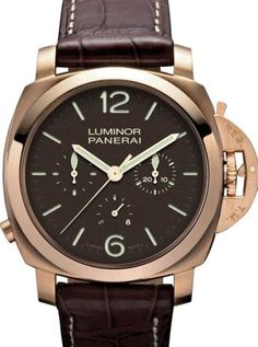 Panerai Luminor 1950 Chrono Monopulsante 8 Days Oro Rosa (Rose Gold) PAM344 wrist watch