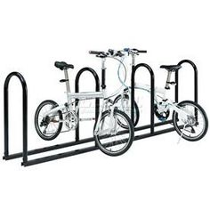 """8-Bike Stadium Bike Rack Ready To Assemble by Global Industrial. $215.00. STADIUM BIKE RACKS Unassembled 8 Bike Rack Bike racks are great for use around stadiums, parks, athletic fields and more. U-rail bike rails allow double sided bike storage. Stores bicycles in upright position. Black powder coat finish. Unassembled racks are made using 1-5/8"""" diameter x .098 thick tubular steel. U-rails easily attach to U-channel base rails for assembly. Base rails allow freestanding, por..."""