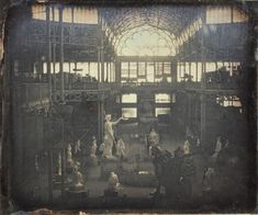 World's Fair at the Crystal Palace (Bryant Park --- New York City --- Jul 1853 - Nov Glass Building, Bryant Park, Victorian Architecture, Historical Images, Crystal Palace, World's Fair, Old Photos, New York City, Past