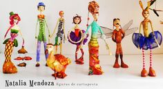 ninotas Paper Flowers Craft, Flower Crafts, African Dolls, Paper Mache Sculpture, Newspaper Crafts, Paperclay, Fairy Dolls, Soft Dolls, Mendoza