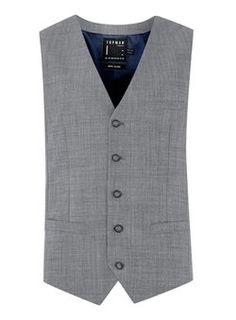 Light Blue Chambray Suit Waistcoat
