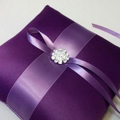Ring Bearer pillow... :  wedding ring bearer pillow Il 570xN.222746210 Mystic Purple and Amethyst  Ring Bearer Pillow