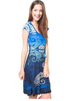 Vestido Multicolor Azul Desigual Desigual Vestido Multicolor, Lily Pulitzer, My Love, Casual, Dresses, Fashion, New Trends, Blue Nails, Vestidos