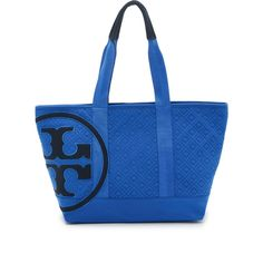 e34ea8ef5105b Tory Burch Penn Quilted Small Zip Tote ( 255) ❤ liked on Polyvore featuring  bags