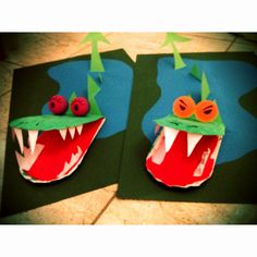 Per Sant Jordi : these are some scary dragons: my speech kids would love them Elementary Art Rooms, Dance Recital, Crafts For Boys, Preschool Kindergarten, Art Classroom, Art School, Saint George, Art Projects, My Arts