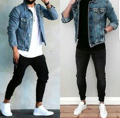 Look masculinos, roupas jeans masculinas, estilos de roupas masculinas, jea Men Street, Street Wear, Street Casual Men, Mode Man, Casual Outfits, Men Casual, Stylish Men, Casual Winter, Man Style Casual