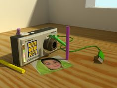 Modelo realizado en 3D Max. La foto es mi hija