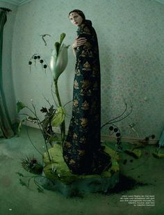 Tim Walker, Love Magazine, Spring/Summer 2016, Hieronymus Bosch with Yana Dobrolyubova & Anna Cleveland.