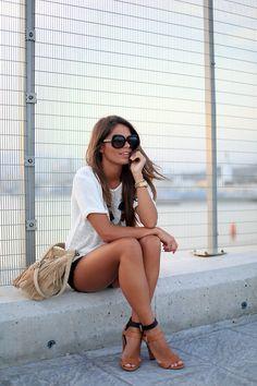 streetbeast:  Jessie Chanes // Waxed Shorts