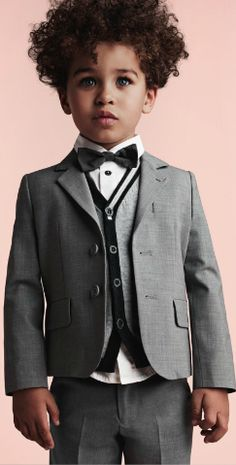 Armani Junior in a sleek black bow tie. Fashion Kids, Beautiful Children, Beautiful Babies, Cute Kids, Cute Babies, Twisted Hair, Kid Swag, Mixed Babies, Stylish Kids