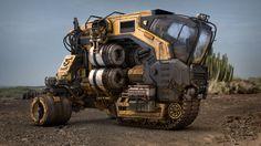 http://www.artstation.com/artwork/josh-flores-obsidian-vehicle-hauler #vehicle #cg #render #3d