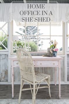 a she shed is one of the best ways to add an affordable and private home office in your back yard She Sheds, Your Back, Working Area, Home Office, Backyard, Design, Yard, Home Offices