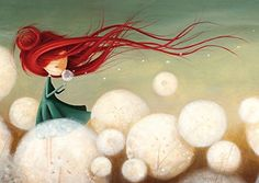 """Valeria Docampo, """"Ana"""", illustration for the book """"La Vallée des Moulins"""" (""""The Valley of Windmills"""") by Noelia Blanco Jolie Photo, Little Doll, Children's Book Illustration, Book Illustrations, Cute Art, Art Drawings, Art Photography, Character Design, Artsy"""