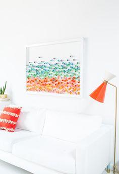 DIY paper wall art   sugarandcloth.com
