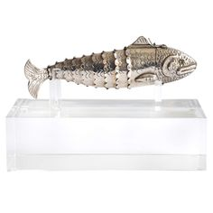 Stylized Fish Sterling Pillbox by William Spratling | From a unique collection of antique and modern sterling silver at https://www.1stdibs.com/furniture/dining-entertaining/sterling-silver/